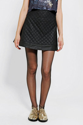 Sparkle & Fade Quilted Vegan Leather Skirt