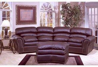 Omnia Leather Williamsburg Leather Conversation Sofa Omnia Leather