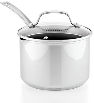 Circulon Genesis Stainless Steel Nonstick 3 Qt. Covered Straining Saucepan