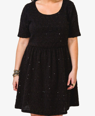 Forever 21 FOREVER 21+ Sequined Bouclé Dress
