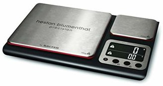 Salter Heston Blumenthal Dual Platform Precision Scale by Salter, High Capacity 10kg and Ultimate Recipe Accuracy 200g Platforms, Stylish Kitchen Accessory with Digital Display, Measure in Metric and Imperial Weight and Volume for Liquids with Aquatronic Feature - Black