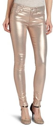 7 For All Mankind Women's The Skinny Jean in Metallic Light Blush