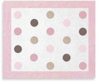 Sweet Jojo Designs Mod Dots Floor Rug in Pink/Chocolate