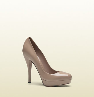 Gucci Light Pink Patent Leather Platform Pump