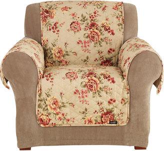 Sure Fit Lexington Floral 1-pc. Chair Pet Furniture Cover