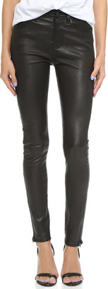 J Brand Maria High Rise Leather Pants $998 thestylecure.com