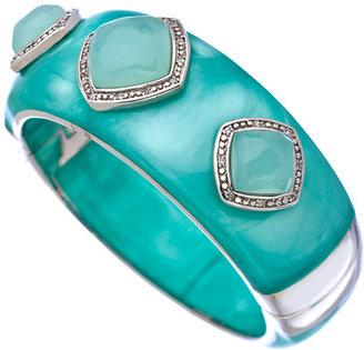Miriam Salat Aquamarine Faceted Stone Cuff Bracelet