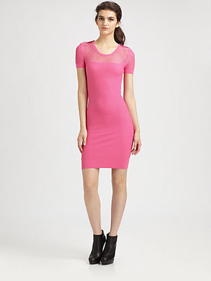 McQ by Alexander McQueen Fitted Mesh Dress