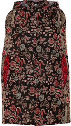 Valentino Hooded cotton-blend tapestry cape