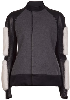 Rick Owens wool and mink jacket