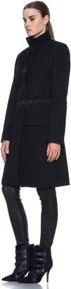 Isabel Marant Easy Manteaux Chic Wool-Blend Coat in Black