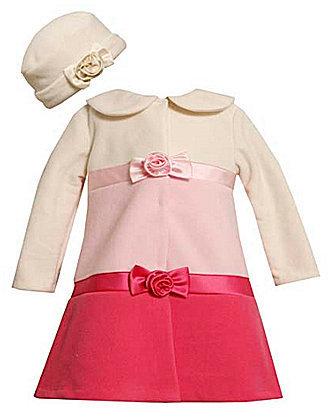 Bonnie Baby Newborn Colorblocked Fleece Coat
