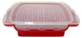 Collapsible Mini Marinade Tray Apple Red - Poptimism