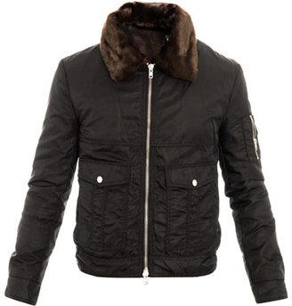 BLK DNM Faux-fur collar bomber jacket
