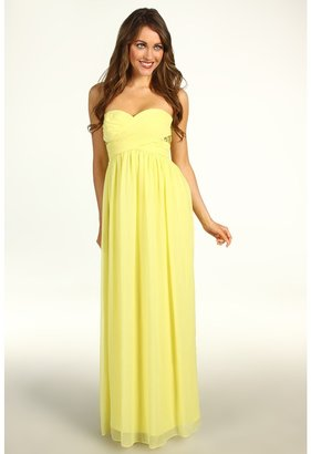 Max & Cleo Emily Strapless Gown (Custard) - Apparel
