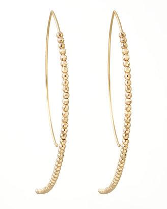 Mizuki Beaded Marquise Hook-Hoop Earrings