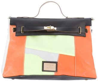 A.N.G.E.L.O. & Partners Vintage structured paneled satchel