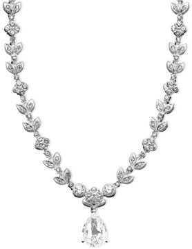 Eliot Danori Cubic Zirconia Leaf (1 ct. t.w.) Necklace, Created for Macy's