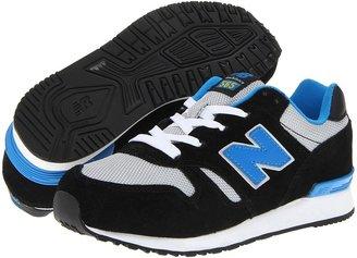 New Balance KL565 (Big Kid) (Black/Blue) - Footwear