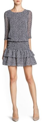MANGO Ruffled skirt leopard print dress