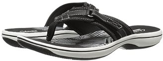 Clarks Breeze Sea (Pewter Synthetic) Women's Sandals