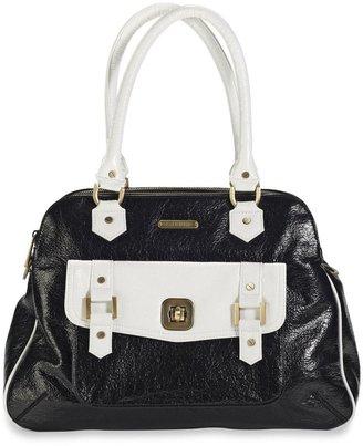 Timi & Leslie Sophia Satchel Diaper Bag in Black & White