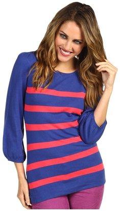 Lilly Pulitzer Rebecca Sweater (Bomber Blue Snail Stripe) - Apparel