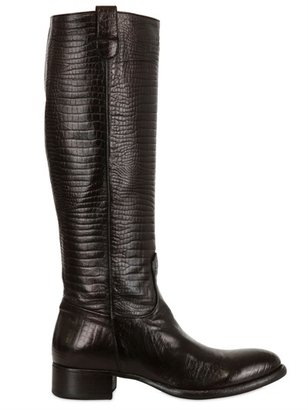 Rocco P. 30mm Soft Lizard Printed Leather Boots