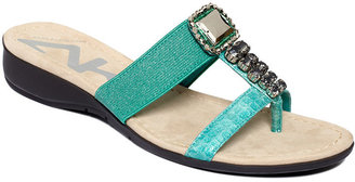 Anne Klein Shoes, Kwire Flat Sandals