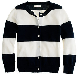 J.Crew Girls' Caroline cardigan in rugby stripe
