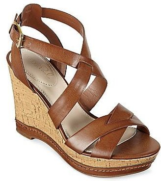 Studio Paolo® Sandra Crisscross Wedge Sandals