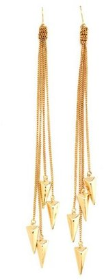 Charlotte Russe Dangling Pyramid Spike Earrings