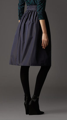 Burberry Gathered Taffeta Skirt