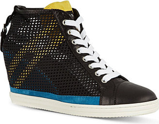 Hogan Mesh wedge trainers
