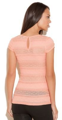 GUESS Short-Sleeve Lace Top