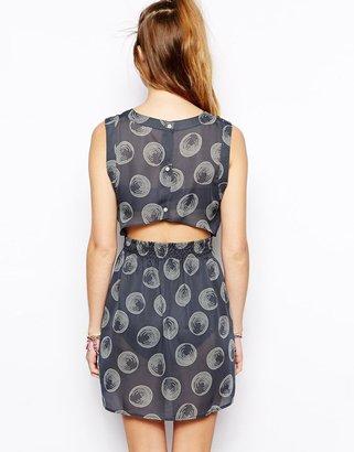 RVCA Wordless Chorus Button Front Dress