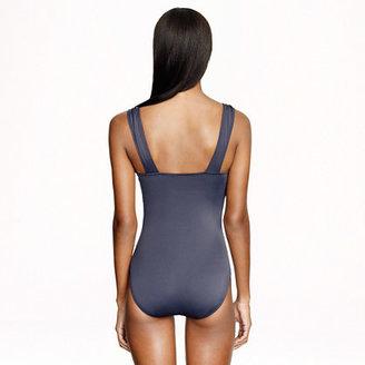 J.Crew Long torso ruched femme one-piece swimsuit