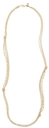 LOFT Long Knotted Chain Necklace