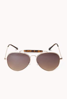 Forever 21 F3955 Chic Aviator Sunglasses