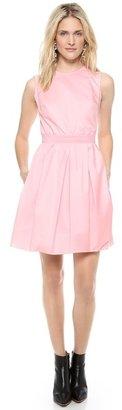 Carven Sleeveless Satin Dress