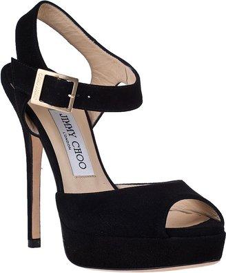 Jimmy Choo Linda Platform Sandal Tangerine Patent