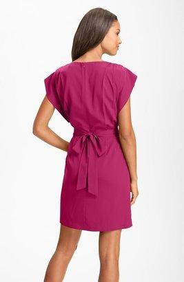 Eliza J Drape Sleeve Sash Belt Dress