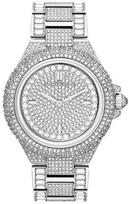 MICHAEL Michael Kors Michael Kors 'Camille' Crystal Encrusted Bracelet Watch, 44mm