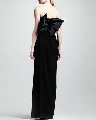 Lanvin Strapless Corset Gown