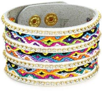 Presh Multi Color Friendship Leather Bracelet