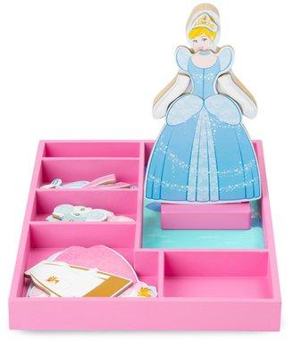 Melissa & Doug Disney Princess Cinderella Wooden Magnetic Dress-Up Doll