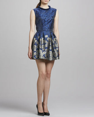 Mark & James by Badgley Mischka by Badgley Mischka Printed Fit-&-Flare Cocktail Dress