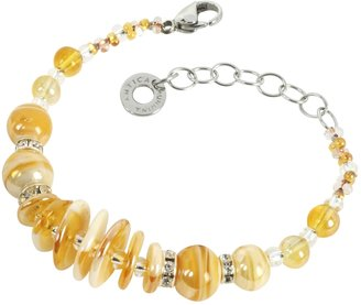 Antica Murrina Liberty Light Gold Murano Glass Bracelet $56 thestylecure.com