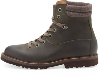 Brunello Cucinelli Oiled Leather Hiking Boot
