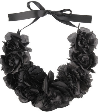 Forever 21 Silk Flowers Necklace